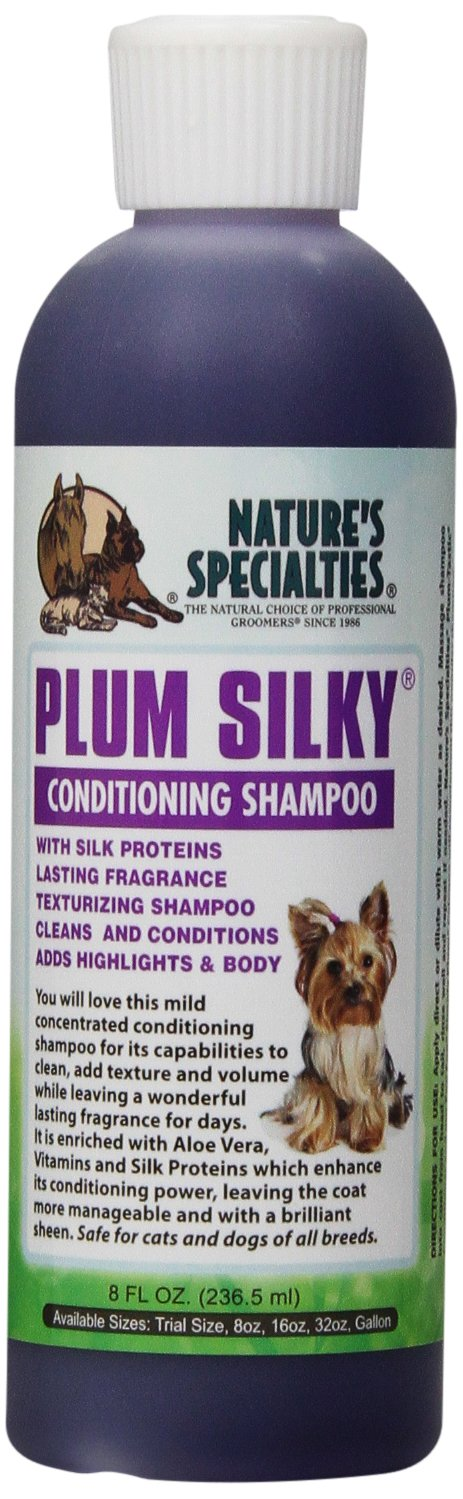 Nature's Specialties Plum Silky Pet Shampoo with Conditioner, 8-Ounce
