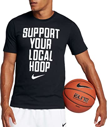 1e9993b8 NIKE Men's Support Your Local Hoop Dri-Fit Cotton T-Shirt, Black ...