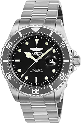 Model: 30018 Invicta Mens Pro Diver 43mm Stainless Steel Quartz Watch Silver