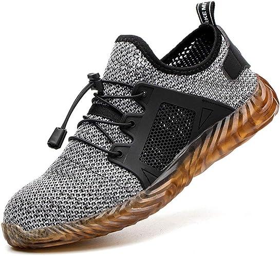 Chaussures Protection Sport en Embout Respirant de Acier pour Baskets Chaussures Puimentiua de Unisexes Homme Légère Maille avec sécurité Sécurité XiOkuTPZ
