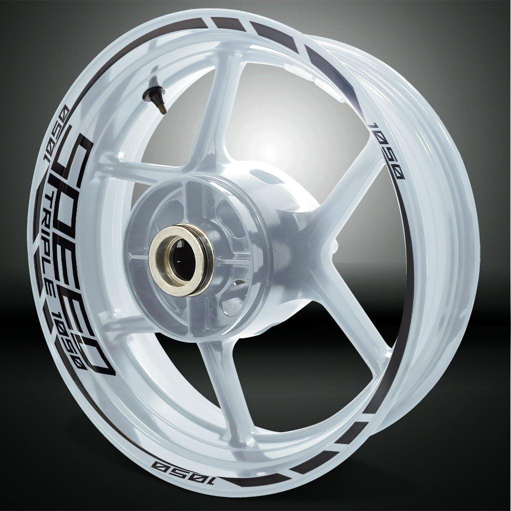 Or Mat Jante de Moto d/écalcomanies Autocollant Accessoire pour Triumph Speed Triple 1050
