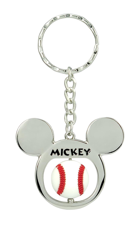 Mickey Mouse Llavero Giratorio de Metal - Disney Baseball ...