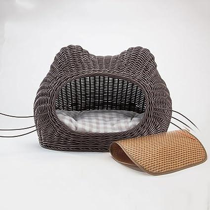 Suministros para camas Sábana para Gatos de ratán casa de ...
