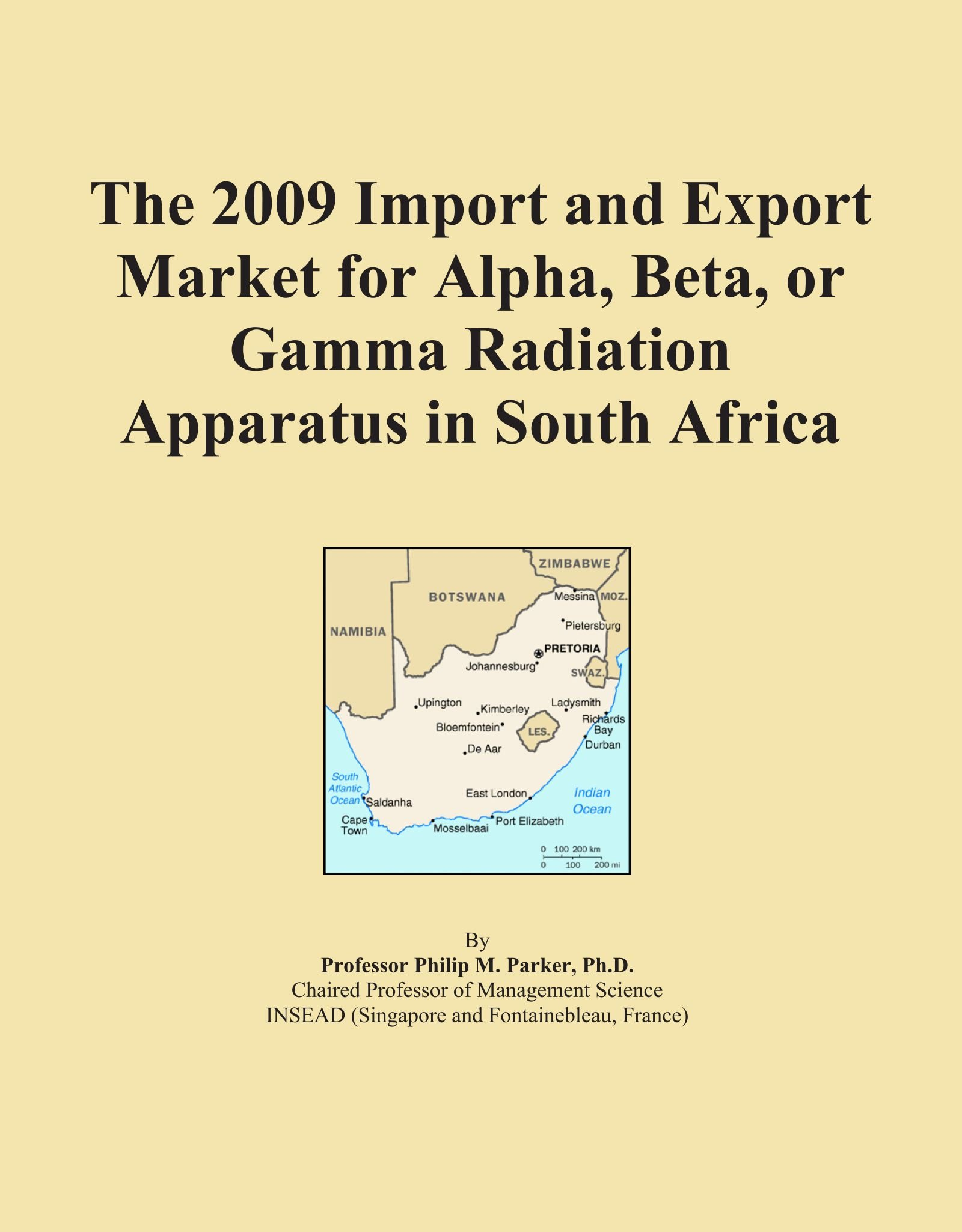 Download The 2009 Import and Export Market for Alpha, Beta, or Gamma Radiation Apparatus in South Africa PDF ePub book