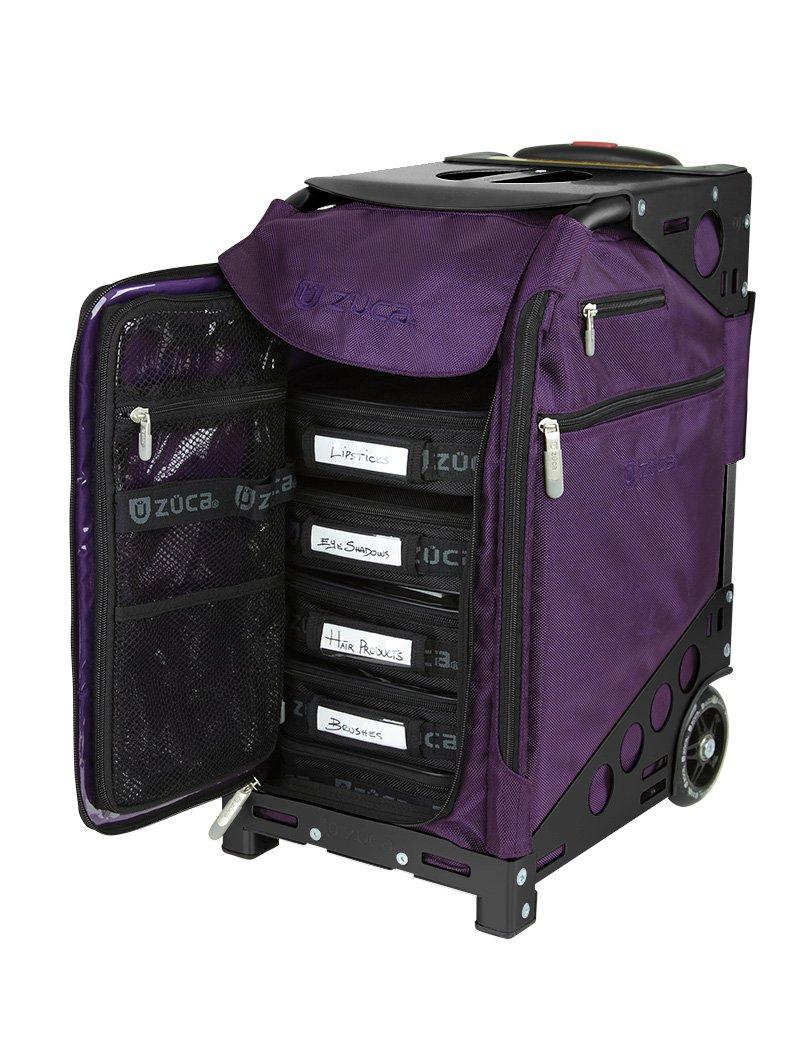 Zuca Purple Bag, Black Frame, 5 Standard Pouches, TSA w/ Purple Travel Cover by ZUCA (Image #3)