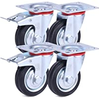 H&S Rueda giratoria para muebles con ruedas giratorias