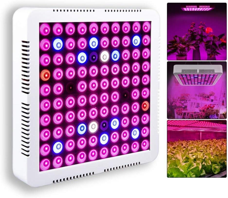 PSHjs 300W 100PCS LED Crece la luz Sunlike Full Spectrum Crece Las lámparas for Plantas de Interior y Veg floración de la Flor llevada hidropónica Crecer Luces Accesorios for el Invernadero