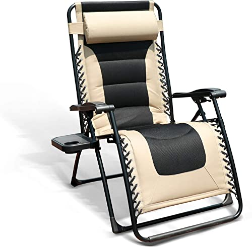 GOLDSUN Oversized Padded Zero Gravity Reclining Chair Adjustable Patio Lounge Chair