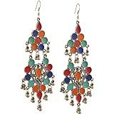 Zephyrr Jewellery German Silver Afghani Hook Dangler Earrings