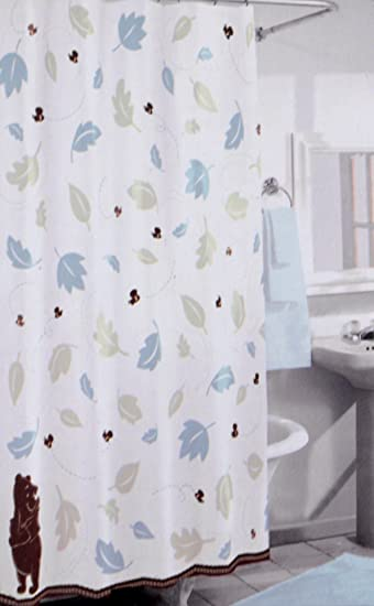 Disney Winnie the Pooh Cotton Shower Curtain. Amazon com  Disney Winnie the Pooh Cotton Shower Curtain  Home