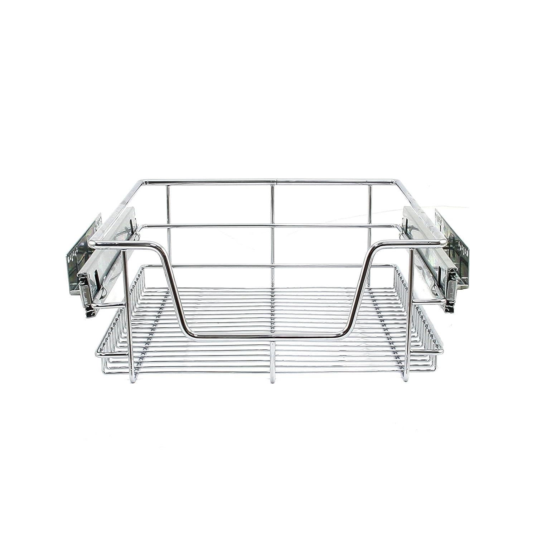 KuKoo 2x cucina Pull Out Soft Close cestini, 400mm di larghezza armadio, cassetti portaoggetti out Wire MonsterShop