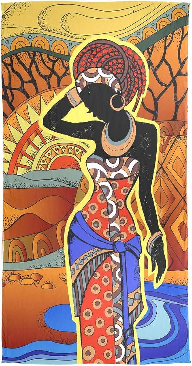 linomo Sciarpa da donna in chiffon stile africano in seta