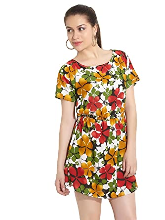 970e49f0840 Hotberries Ladies Boat Neck Synthetic DRESS 8901021040575  Amazon.in ...