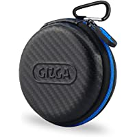 Gizga Essentials Earphone Case - Multi Purpose Pocket Storage Travel Organizer Case for Earphone, Pen Drives, Memory Card, Data Cable - Carbon Fibre (Black/Blue)