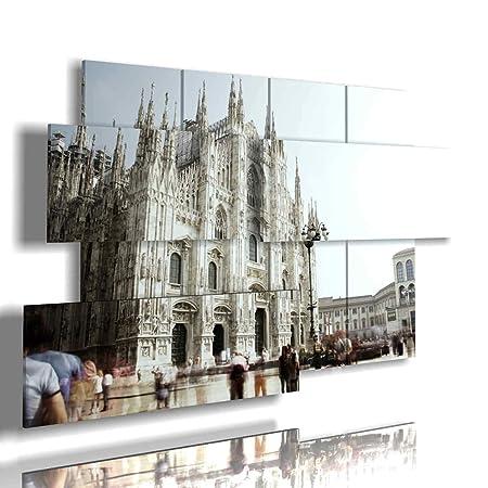 Soggiorno Moderno A Milano.Duudaart Quadro Moderno Milano Duomo 02 Multilivello 3d Quadri
