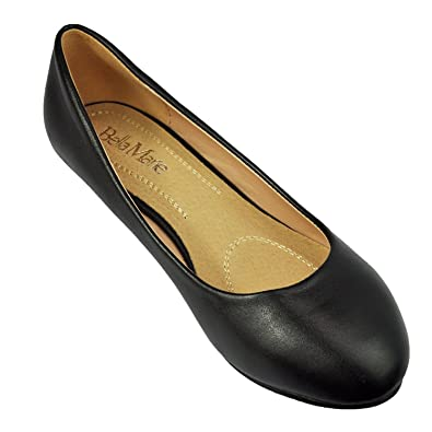 fbc0051be24b Women s Slip on Wedge Ballet Flats Low Mid Wedge Heel Boat Shoes Bellarina  Flat Shoes Pu