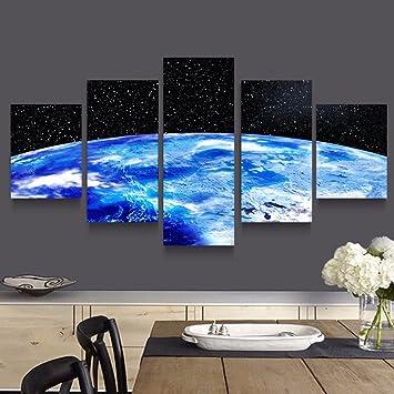 Gehoren Rahmen 5 Tafelbild Kosmos Bilder Raum Leinwand Malerei Kunst