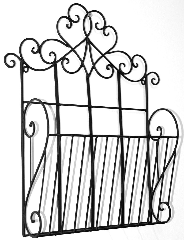 marymarygardens Black Metal Scroll Design Wall Hanging Single Section Magazine Rack