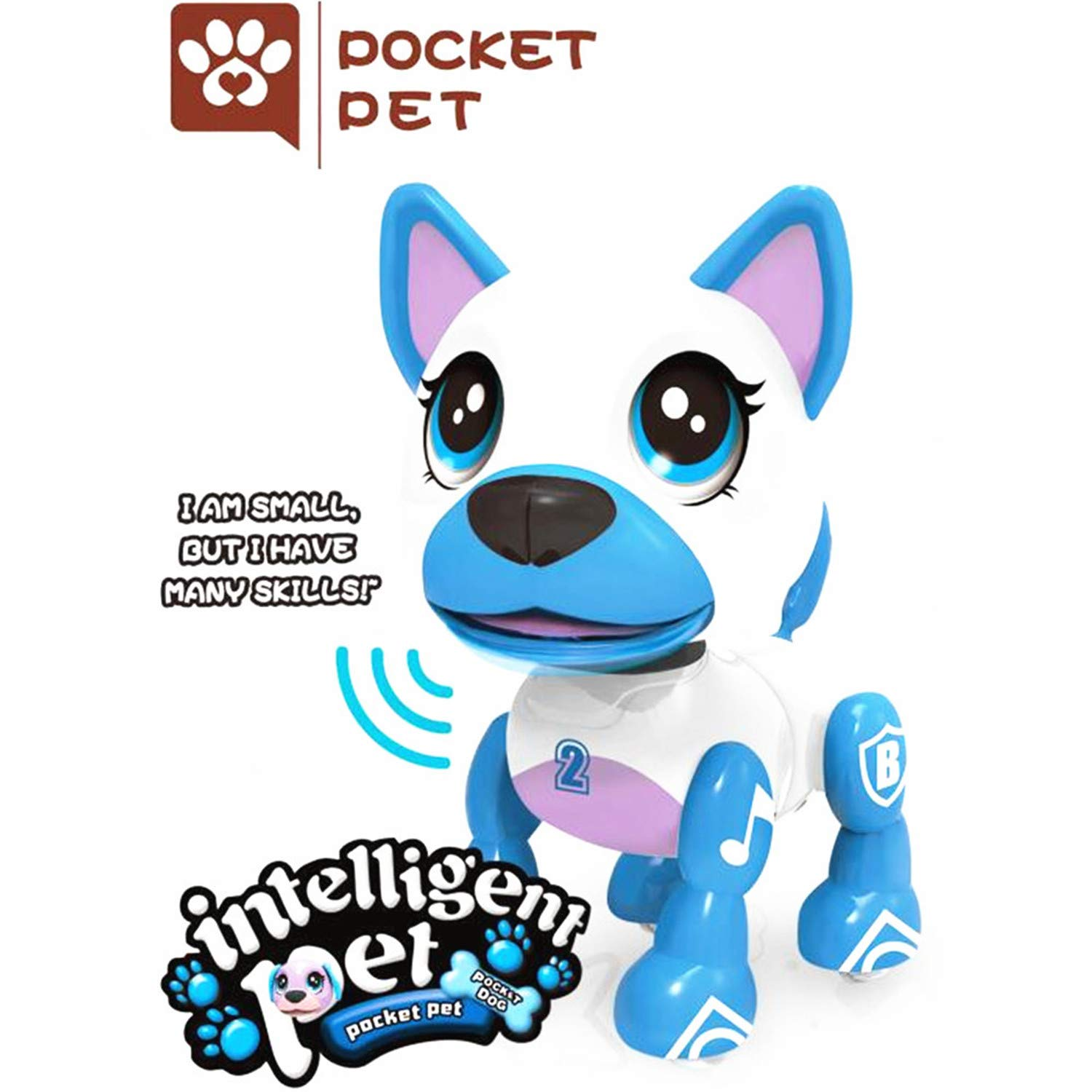 SoundOriginal Electronic Intelligent Pocket Pet Dog Interactive Puppy purple Speech Recognition Dog Robot Dog Popular Toys Smart Pet Toy for Age 3 4 5 6 7 8 9 10 Year Old Boys Girls and Kids Gifts