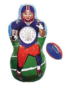 Kovot Inflatable Football Target Set - Inflates to 5 Feet Tall! - Soft Mini Football Included