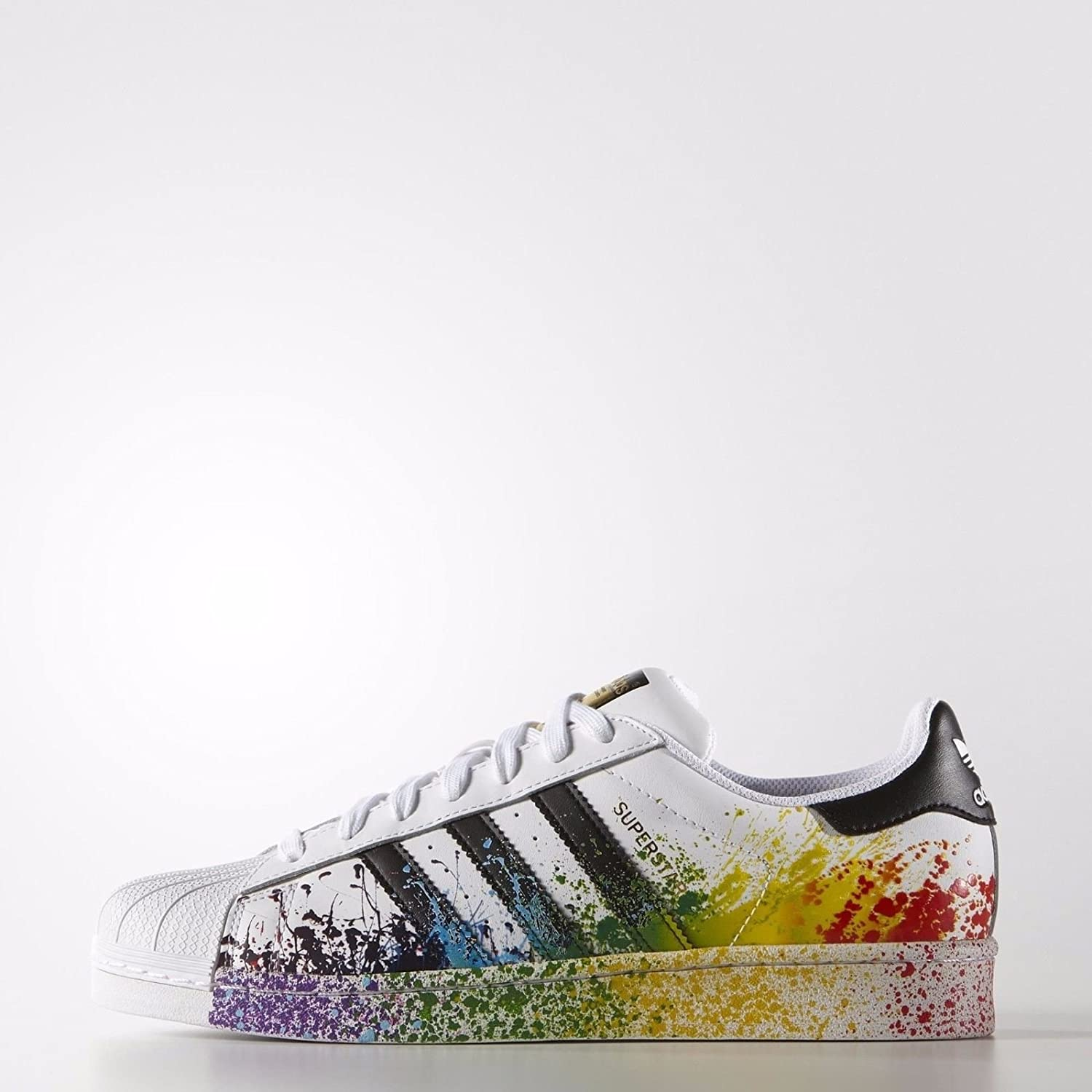 Adidas Superstar LGBT Pride Pack D70351 White/Black Rainbow Men's Shoes  Size 13: Amazon.co.uk: Shoes & Bags