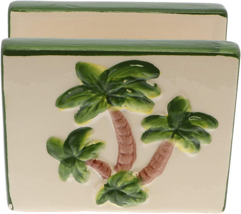 Ceramic Napkin Holders- Palm Tree