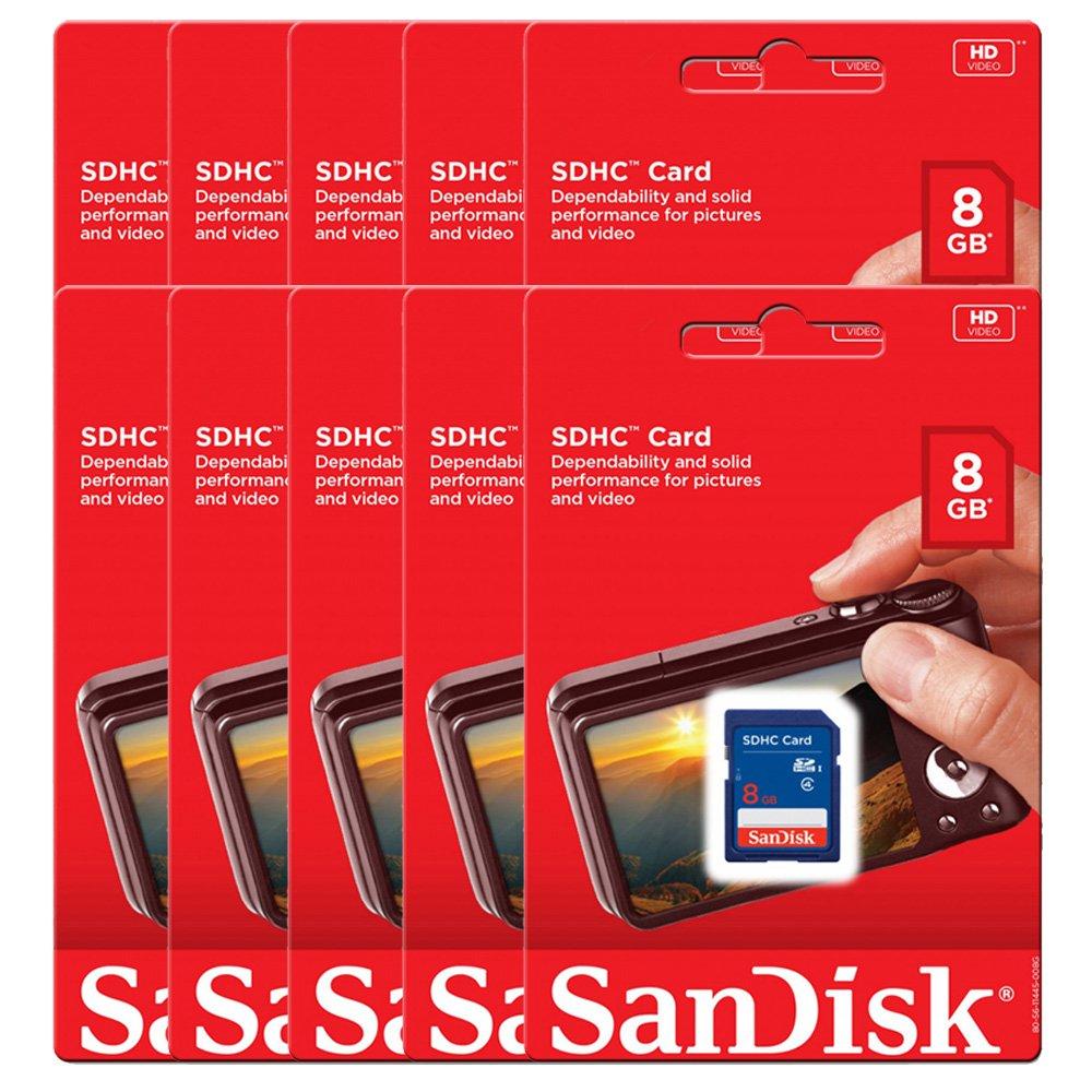 10 Piece SanDisk SDSDB-008G 8GB SDHC Class 4 SD sdhc flash Memory Card for DSLR Camera Nikon Canon