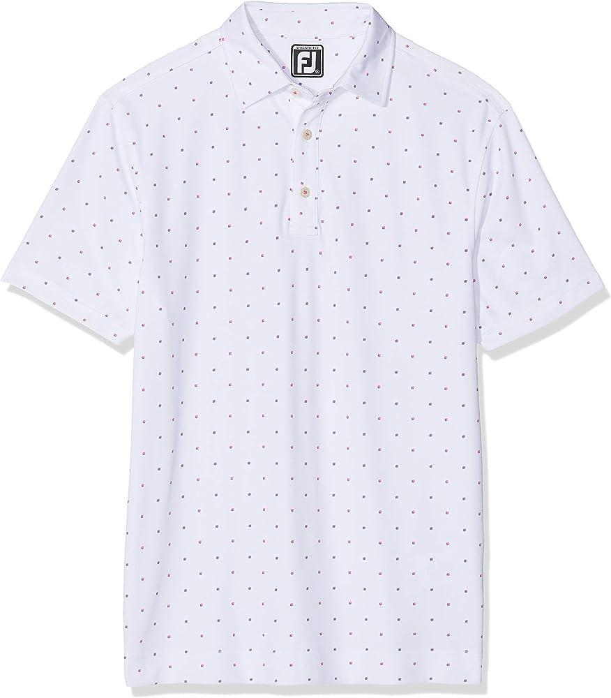 Footjoy Smooth Pique Polo, Blanco (Blanco 92487), X-Large (Tamaño ...