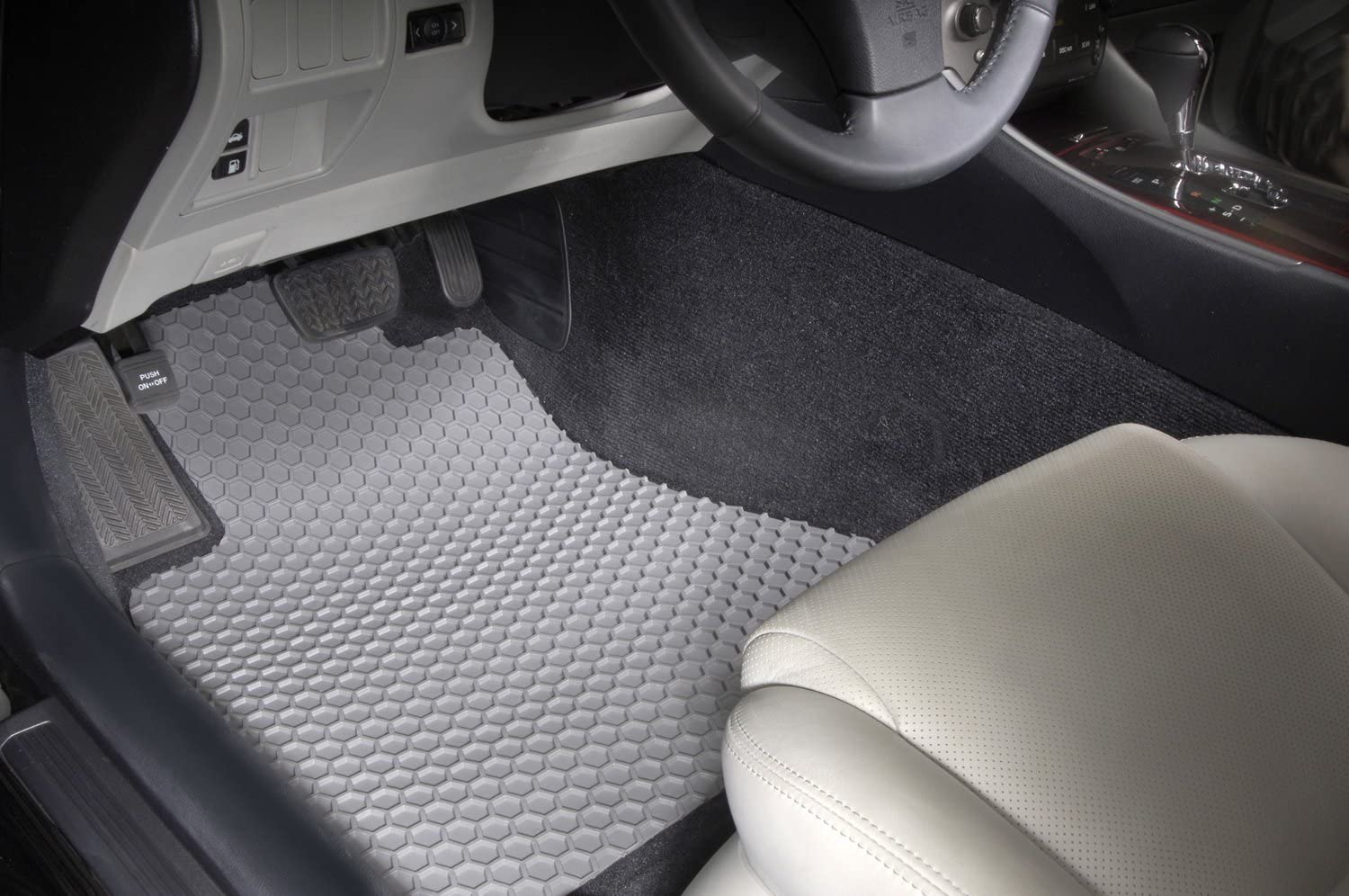 Intro-Tech FO-472R-RT-T Hexomat Second Row 2 pc Rubber-Like Compound Tan Custom Fit Auto Floor Mats for Select Ford F150 Models