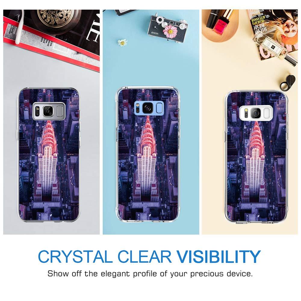 Sch/öne Nachtansicht S8 Plus, 19 Riyeri H/ülle Compatible with Samsung Galaxy S8 Plus H/ülle Klar Slim TPU Silikon Bumper Handytasche f/ür Samsung S8