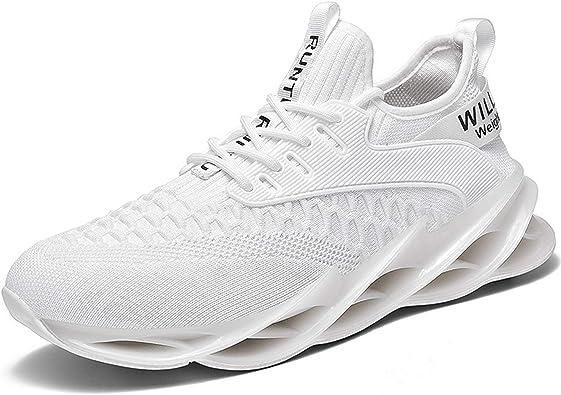 KAWAI Zapatillas Running Hombre Antideslizantes Ligeras Zapatos para Correr Gimnasio Sneakers Zapatillas de Deporte Respirable para Correr Aire Libre: Amazon.es: Zapatos y complementos