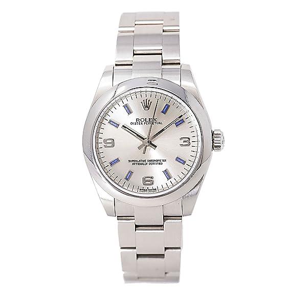 Rolex Oyster Perpetual Sin fecha automatic-self-wind Mens Reloj 177200 (Certificado) de segunda mano: Rolex: Amazon.es: Relojes