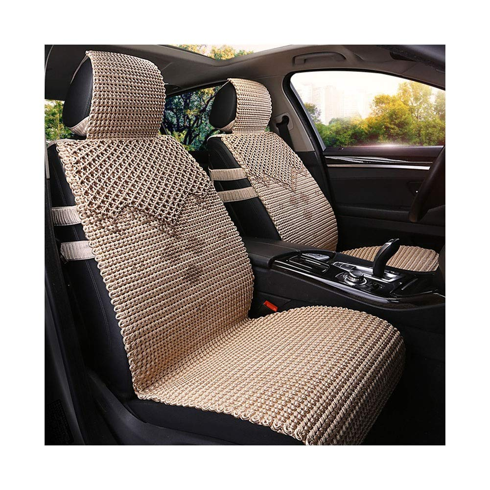 LIXIONG-Car Seat Cushion Double-Layer Hollow Cool Pad Hand Made Breathable Non-Slip Storage, 2 Styles 5 Colors (Color : Gold, Size : A)