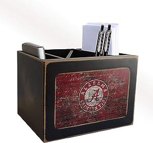 FC NCAA Alabama Crimson Tide Distressed Color Desktop Organizer