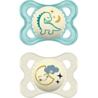 MAM Night latex fopspeen in een set van 2, lichtgevende babyspeen, tandvriendelijk en orthodontisch speentje van…