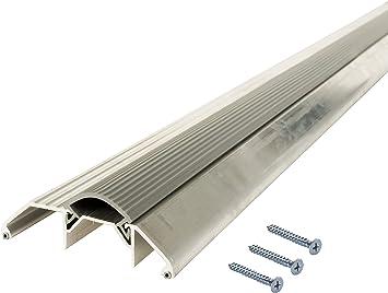 M D Building Products 8029 M D 0 Deluxe High Rug Door Threshold With Vinyl Seal 3 3 4 In W X 36 In L X 1 1 8 In H X 3 3 4 W X 1 1 8 H Aluminum Door Thresholds Amazon Com