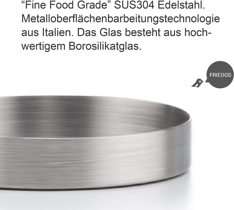 Wei/ß,Lot de 1 casavetro Tasse /à th/é avec passoire et Couvercle en Verre Borosilicate Taille XL Verre