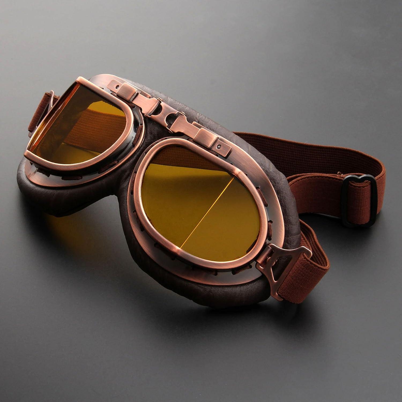 Casco Steam Punk Vintage Gafas de sol Gafas de protecci/ón para Outdoor Sport Motocross