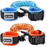 Anti Lost Wrist Link, Dr.meter Toddler Safety Leash with Key Lock, Reflective Child Walking Harness Rope Leash for Kids/Babies, 2.5M Blue + 1.5M Orange