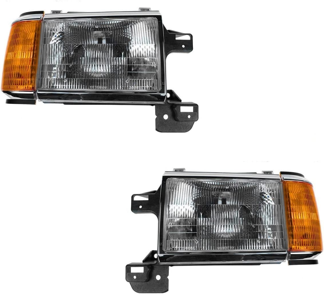 Replacement Front Headlights /& Signal Lights Left /& Right Fleetwood Discovery 1996-1998 RV Motorhome Pair