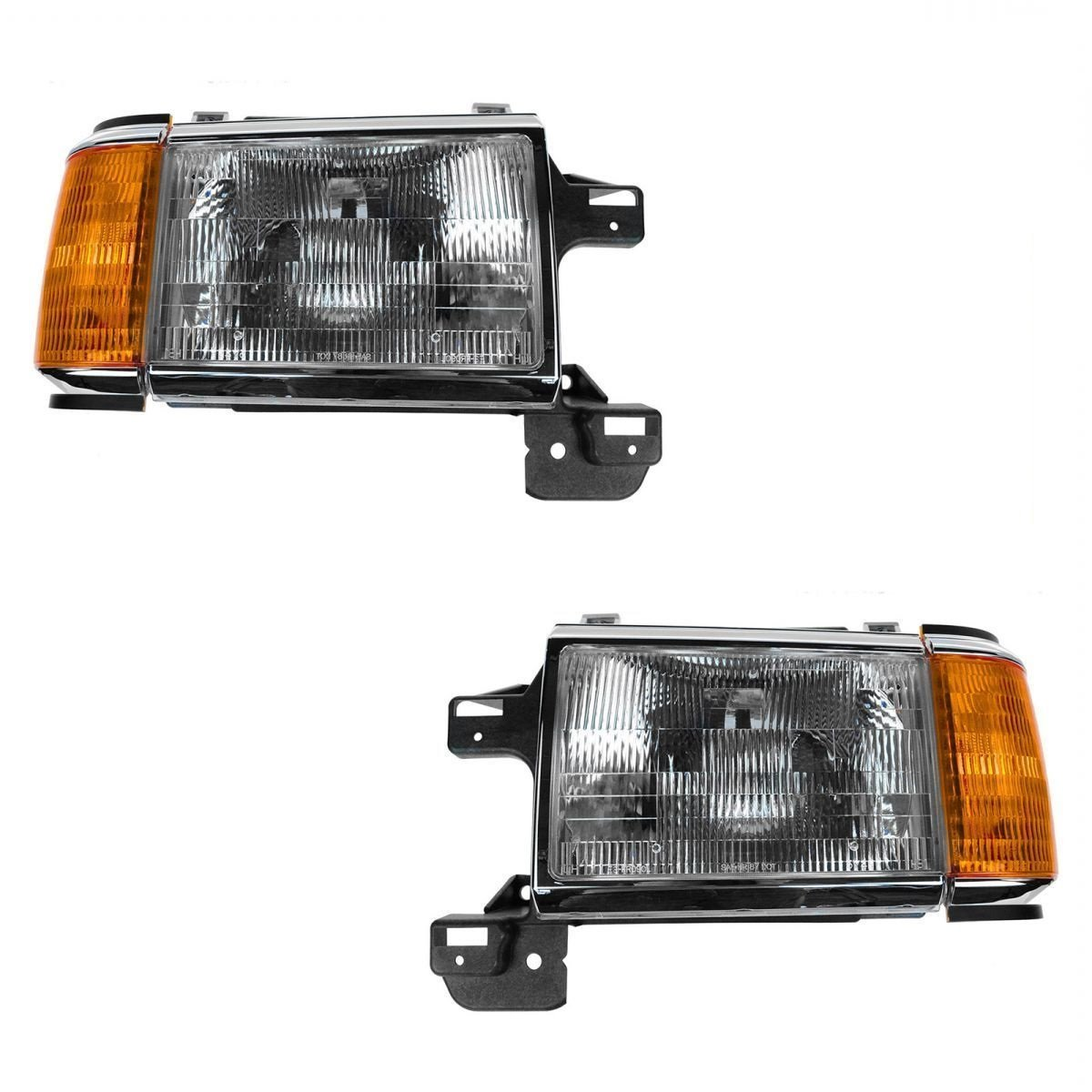 Fleetwood Bounder 1997-1999 RV Motorhome Pair (Left & Right) Replacement Front Headlights & Signal Lights