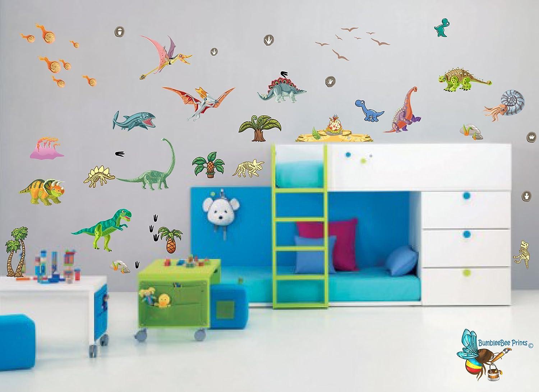 Dinosaurier Wandtattoo Aufkleber f/ür Schlafzimmer Jungen und M/ädchen Kinderzimmer Wohnzimmer Aufkleber f/ür Schlafzimmer Jurassic World T Rex Extra gro/ße 73 cm x 76 cm