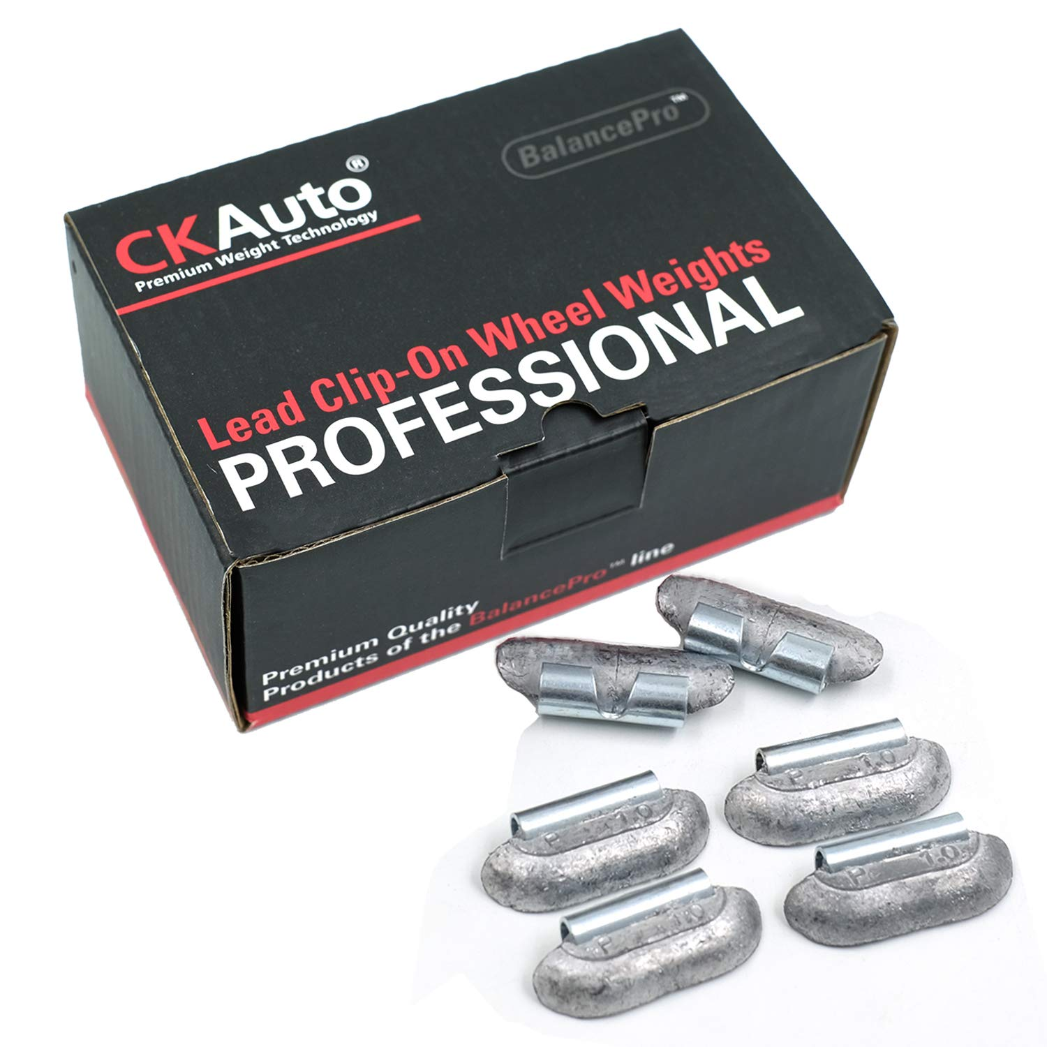CK Auto P Style 1//2oz Uncoated 50Pcs//Box 0.5oz Lead Clip on Wheel Weights