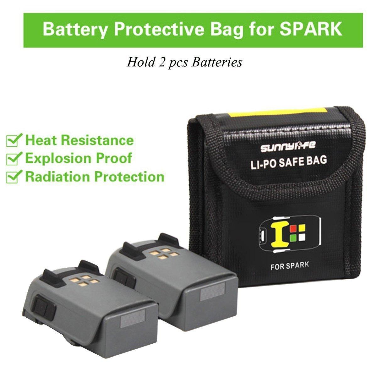 500ec65c1a Batteria Dji Spark Lipo Custodia sicura Protezione antideflagrante  Protezione di sicurezza per DJI Spark Storage Bag Resistente al fuoco da  Crazepony-UK ...