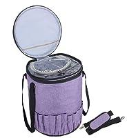Luxja Stricktasche Aufbewahrung, Wolle Aufbewahrungstasche für Stricken Zubehör