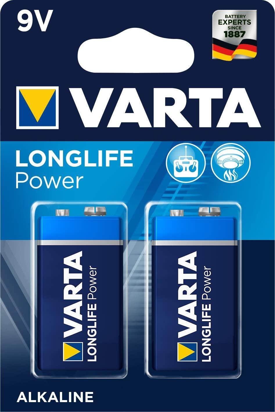 Varta Longlife Power 9v Block 6lr61 Batterie Alkaline Elektronik