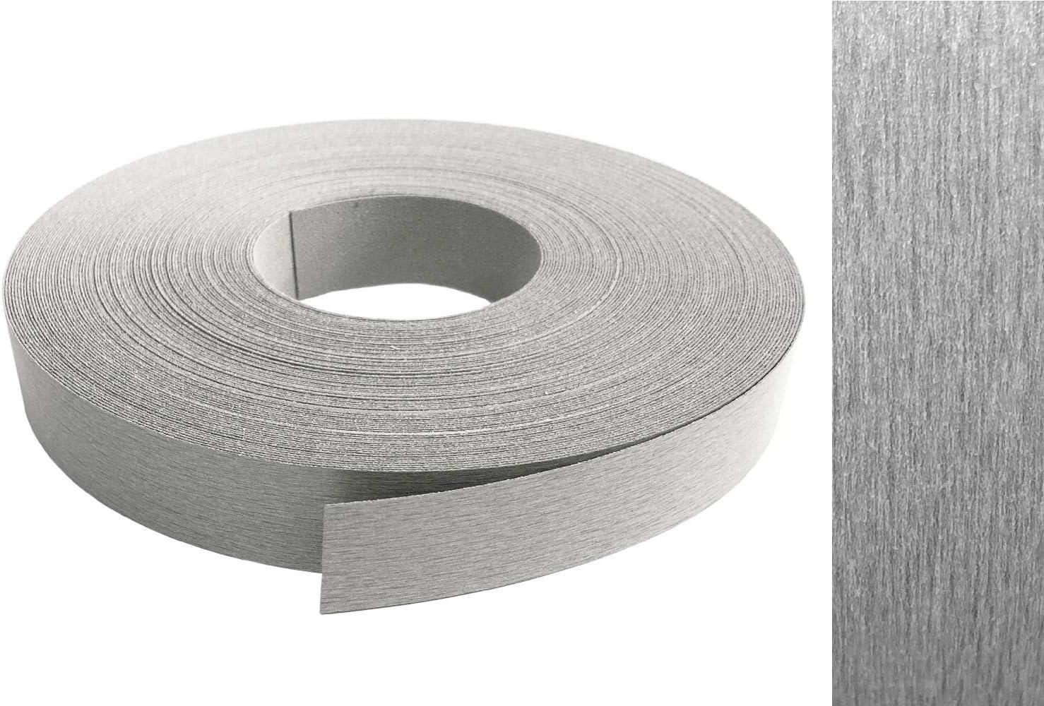 EisenRon - Cinta de melamina para rebordes con adhesivo termofusible 22 mm, 10 m, color metalizado