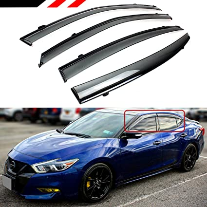 Rain Guard Visors Deflector Out Channel /& Sunroof 5pcs For 2000-03 Nissan Maxima