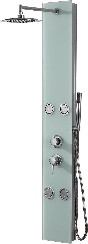 DP Grifería - Columna de ducha hidromasaje en cristal, color blanco, modelo Toscana: Amazon.es: Bricolaje y herramientas