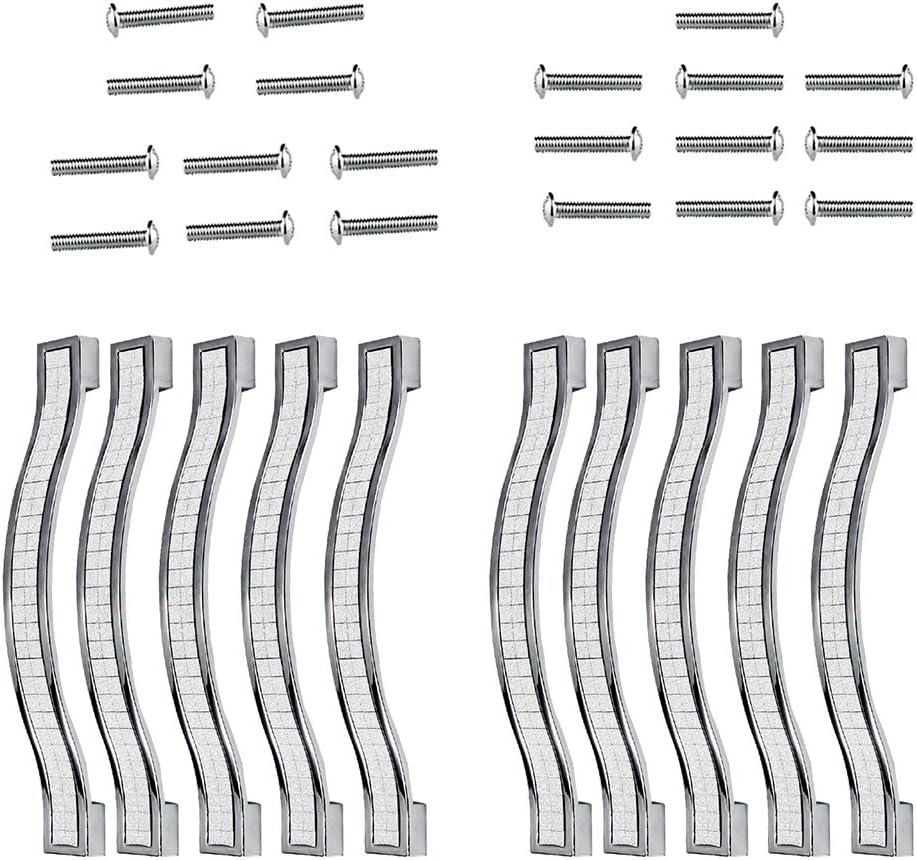 128MM-5PCS, Silver PsmGoods/® Strass Kristall Schublade Knobs Europe Stil zine-alloy M/öbel T/ür Pull Griff f/ür Kommode Schrank K/üche Regler